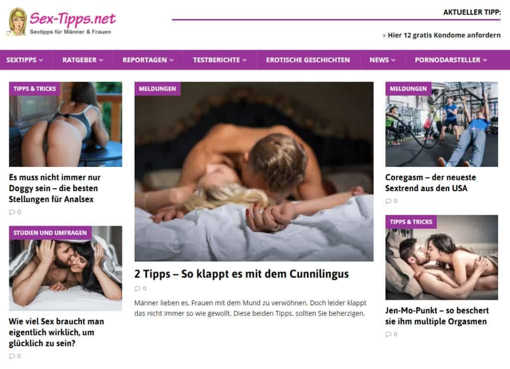 Sex-Tipps.net - Erotischer Ratgeber und prickelnde Reportagen