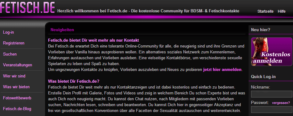 FETISCH.de (Screenshot)