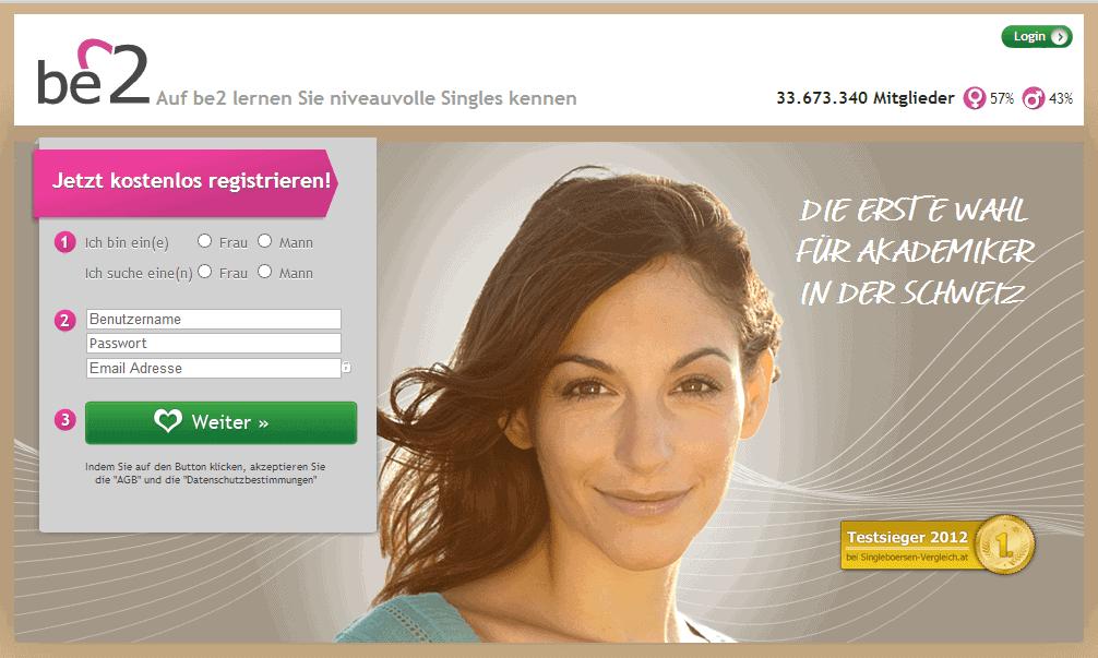 Be2.ch - Schweizer Singles mit Niveau