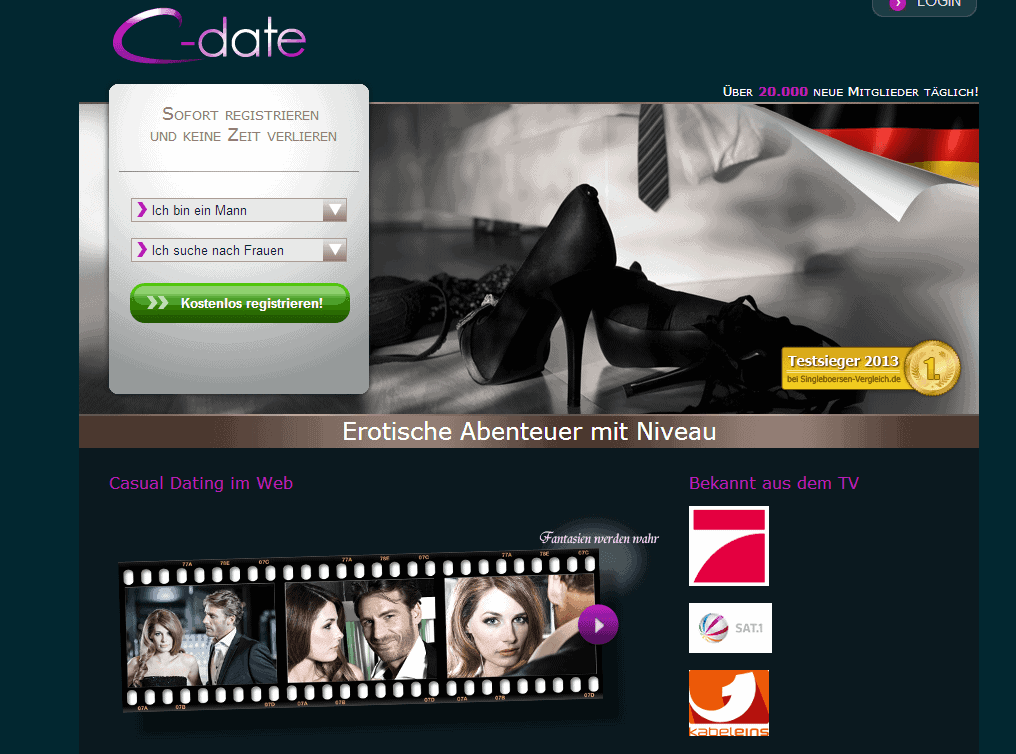 C-Date.de - Casual Dating mit Niveau (Screenshot)