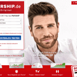 Screenshot Parship.de Homepage