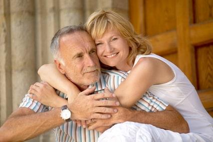 Liebespaar mit Altersunterschied