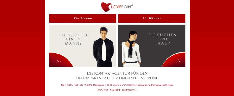Lovepoint - Die diskrete Kontaktagentur