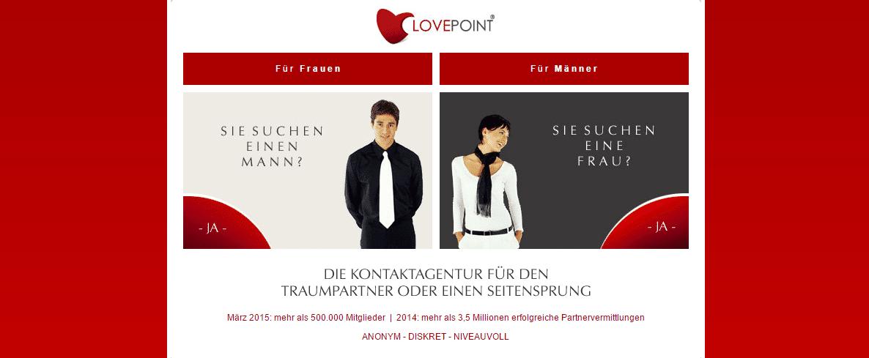 Lovepoint – Die diskrete Kontaktagentur