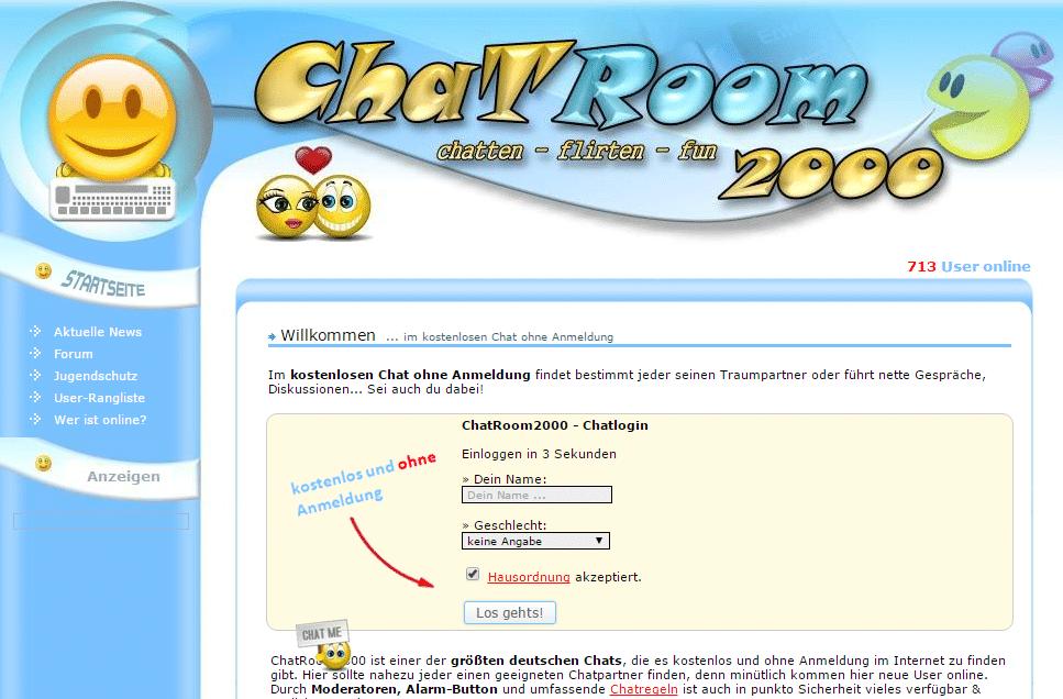 chatroom ohne login