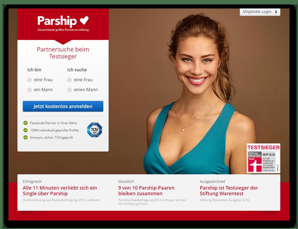 Parship (Screenshot Nov 2016)