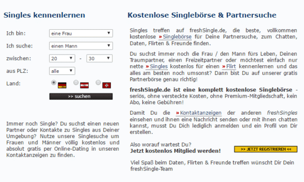 Single online börsen kostenlos