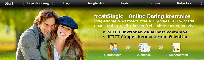 freshSingle - 100% kostenlose Singlebörse