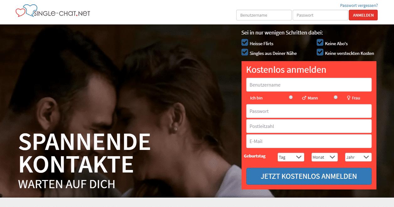 Single-Chat.net - Screenshot (August 2017)