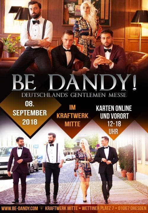 Plakat der Gentlemen Messe Be Dandy! Dresden 2018