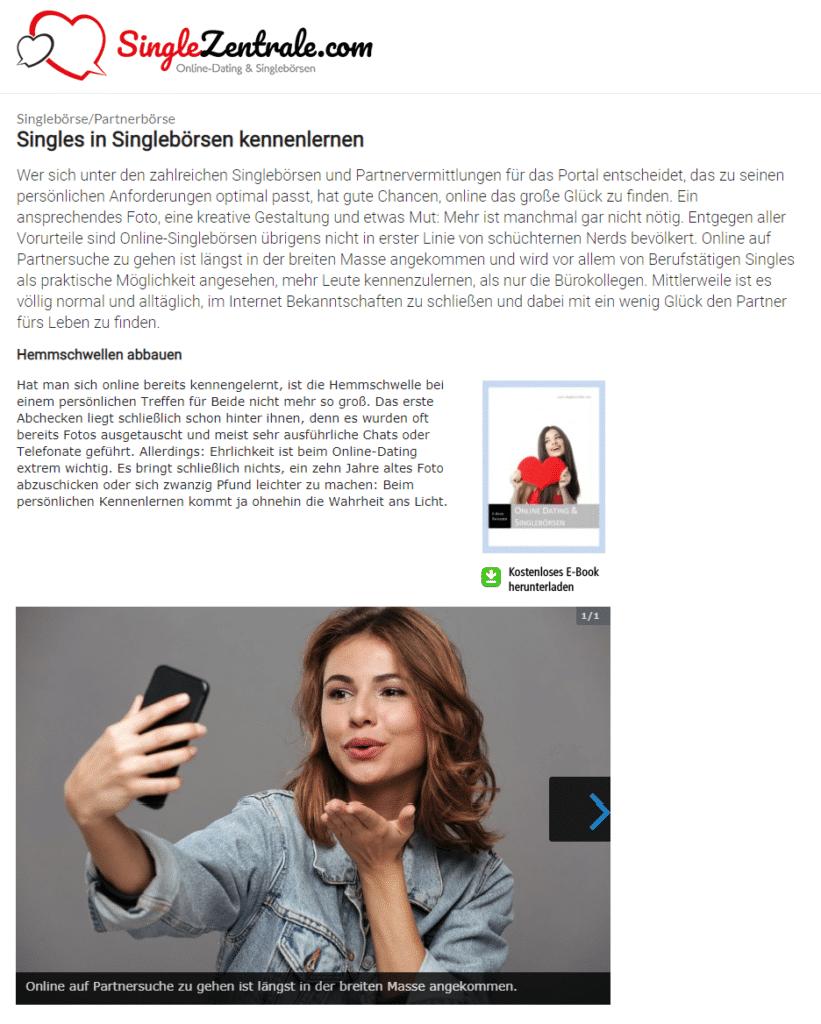 Online Dating Tipps von der Singlezentrale (inkl. kostenlosem eBook zum Herunterladen)