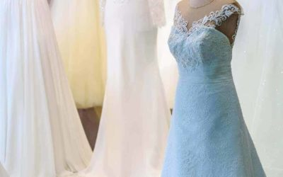 Farbige Brautkleider sind voll in Mode
