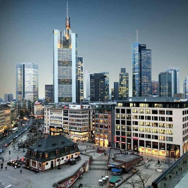 Blick auf die Hauptwache, Frankfurt am Main