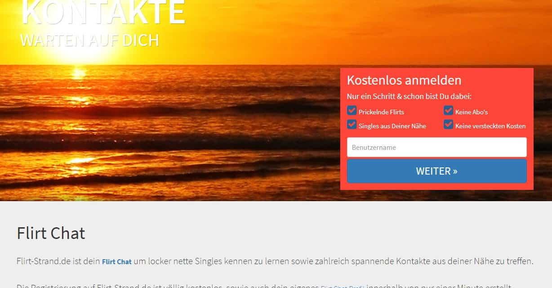 Flirt-Strand.de – Kostenloser Single-Chat mit Flirtmuscheln im Singlebörsen-Vergleich