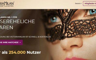 Victoria Milan - Deutschlands größte Kontaktbörse für außereheliche Affären (Screenshot)