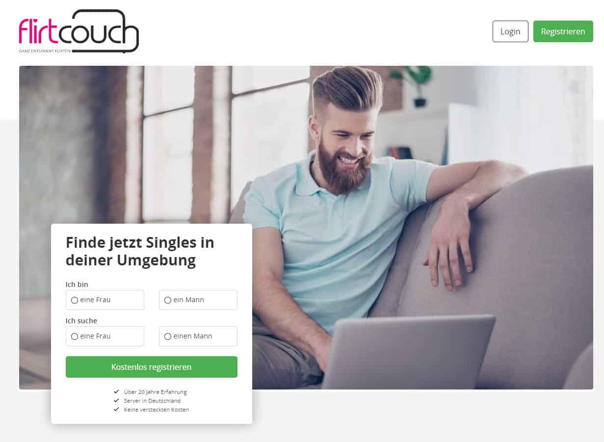 Flirtcouch.com - Die Singlebörse im Test und Vergleich